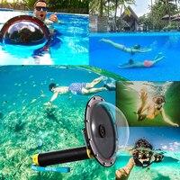 TELESIN Waterproof 30M 6 Dome Port Float Bobber Handle for GoPro Hero 4 3 3+ Camera Underwater for GoPro Housing Accessories
