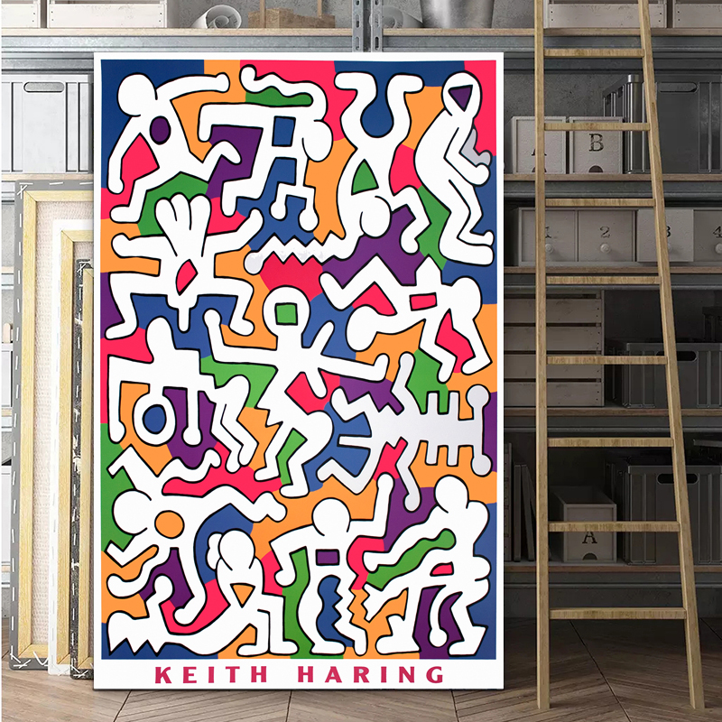Keith HARING Original Pop Art Abstract Canvas Painting Wall Pictures For Living Room Home Decor Modern Decoration NO FRAME