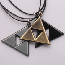2017 New Anime Game Metal Pendant Necklace The Triangle Mark Necklace Pendant 3 Colors Girls Men's Gifts