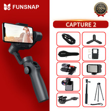 лучшая цена Funsnap Capture2 3 Axis Handheld Gimbal Stabilizer For Smartphone Samsung Iphone X XR 8 7 Gopro Camera Action EKEN 1 Gimbal Kit