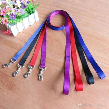 120cm long high quality nylon dog pet leash lead for seat belt harness lead for cat dog collar pets dog collars leashes leash fa