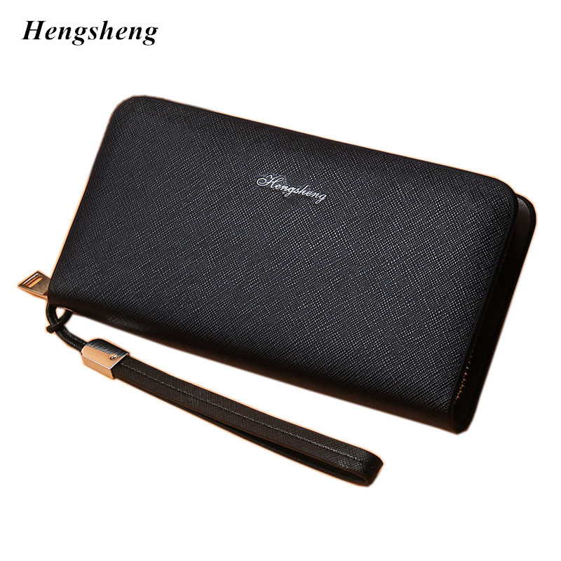цена на Designer Men Wallets Famous Brand Men Long Wallet Clutch Male Money Purses Wrist Strap Wallet Big Capacity Phone Bag Card Holder