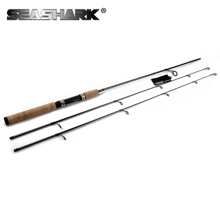 SEASHARK 2 Tips 1.8M spinning rod lure fishing rod Bait spinning Rod power MH /M 99% Carbon action fast ultralight Rod стоимость