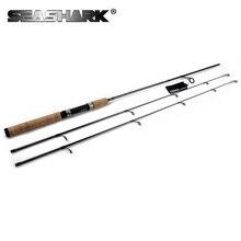 SEASHARK 2 Consejos 1.8 M caña de spinning caña de pescar con señuelos Cebo Caña de spinning poder ML/M 99% ultraligero de Carbono de acción rápida varilla
