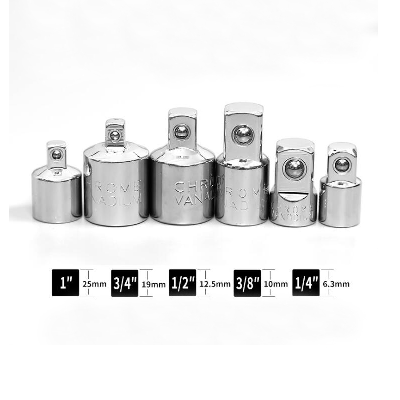 Hand Tools 6pcs Ratchet Socket Wrench Adapter Wrench-sleeve Joint Converter 1/4 3/8 1/2 Inch Converter Reducer Air Impact Craftsman Spare No Cost At Any Cost