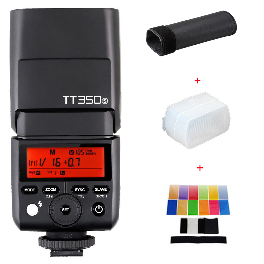 New Arrival Godox Mini Speedlite TT350S TTL HSS GN36 Camera Flash Light for Sony A77II A7RII A7R A58 A99 RX10 A6000 A6500 DSLR sony a6500