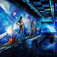 Custom muurschildering KTV sexy thema flash reflecterende non-woven 3D behang KTV bar hotel slaapkamer behang mural