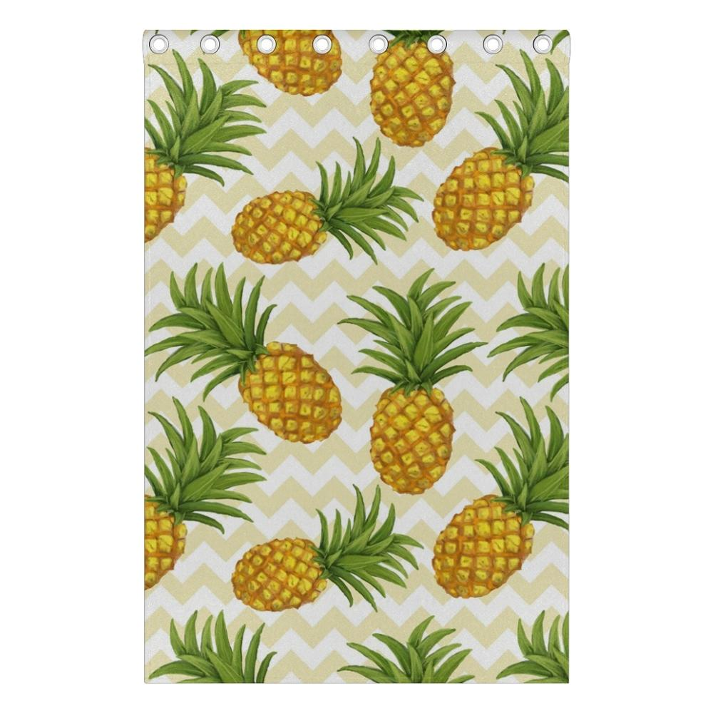 Pineapple Curtains Drapes Panels Darkening Blackout Grommet Room Divider For Patio Window Sliding Glass Door 55x84 Inches In From Home Garden On