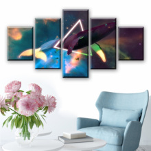 5 Pieces Canvas abstract watercolor painting whale Prints Painting Wall Art Modular Picture Modern Decorative Paintings bedroom