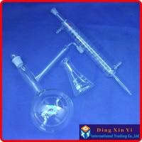 1000ml Distiling Apparatus with ground glass joints,Glass distillation unit,distillation flask+graham condenser+conical flask