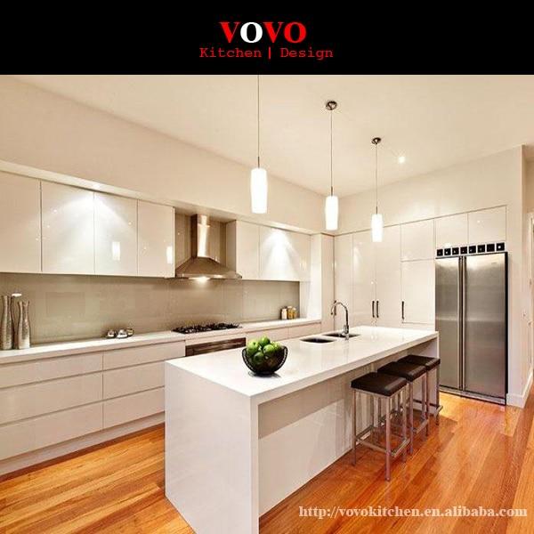 Alta calidad Blanco moderno MDF lacado muebles de cocina en ...