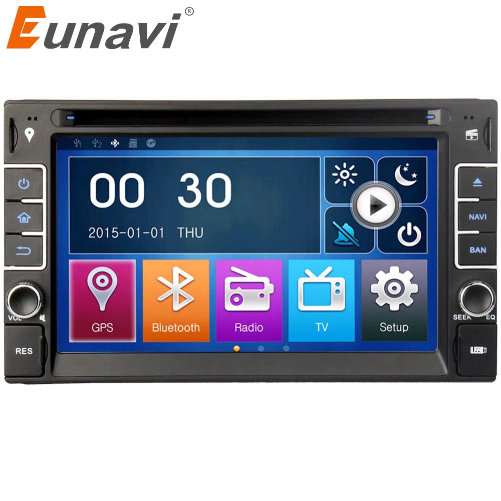 Eunavi <font><b>6.2</b></font>'' car multimedia player in dash Universal Double 2 Din Car Dvd Radio Stereo <font><b>2din</b></font> <font><b>GPS</b></font> Navigation Head Unit autoradio image