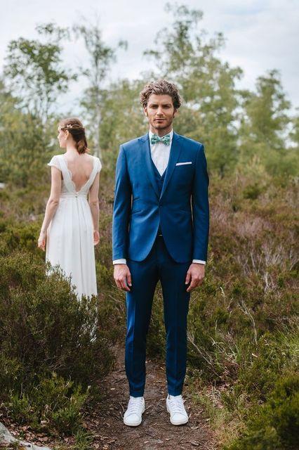2017 Latest Coat Pant Designs Navy Blue Wedding Suits Tuxedo Slim Fit 3 Piece Men Suit