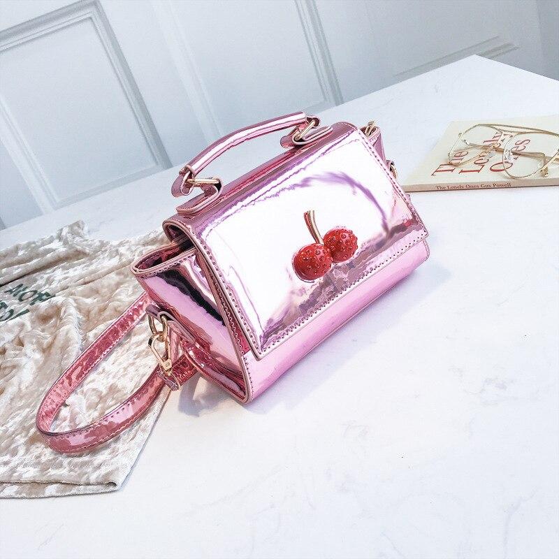 2018 New Cherry Decorative Women Hand Bag Female Cute Chain Shoulder Crossbody Bag