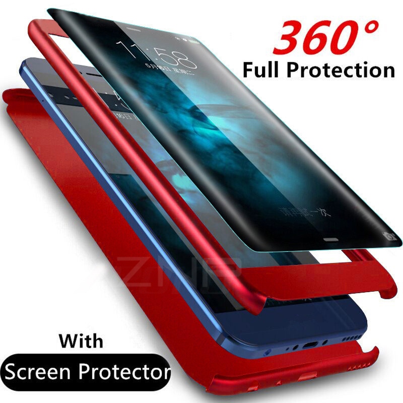360 Degree Phone Samsung Galaxy S7 J5 J7 Full Cover Cases For Samsung A3 A5 A7   S7 Case With Glass