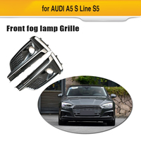 Front Left/Right Lower Bumper Car Fog Light Cover For Audi A5 sport S5 Sline fog lamp Vent Grille Side Insert Grille 2009 11