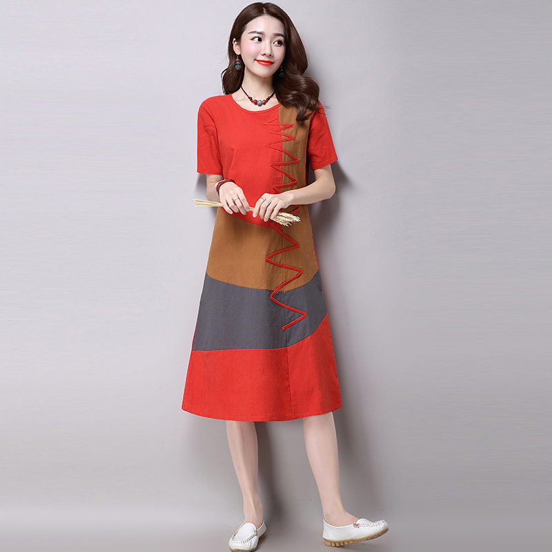 Buy New 2016 Fashion Korean Style Plus Size Women Clothing Summer Casual Dress