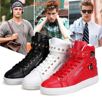2019 Safety shoes For Men Casual Leather Boots Lace Up 3Color USA Street Style Men Fashion Shoes work shoes
