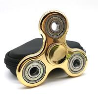 Tri-spinner Antistress Fidget Gold Plating Hand Finger Spinner Function Spinning Toy Stress Wheel Stres Carki Stres Spiner Toy
