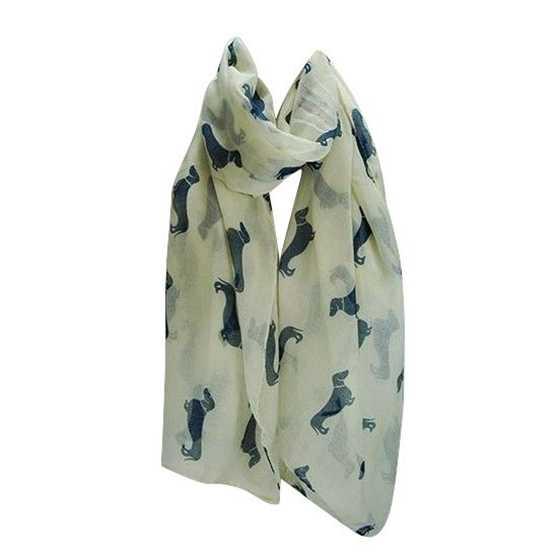 Одежда для собак с колбасой, Дамский шарф шаль, мягкий, 180x90 см, черный