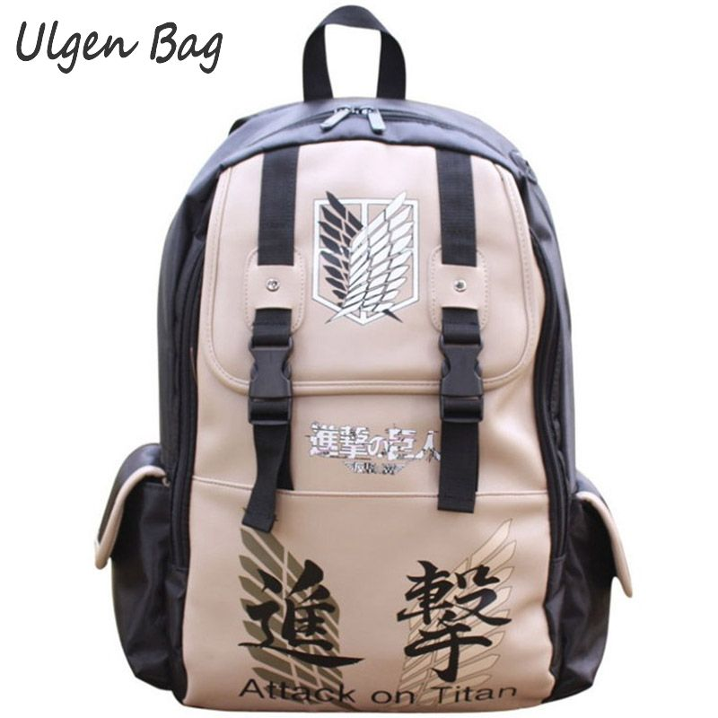 HOT Japanese Anime shingeki Kyojin no attack on Titan backpacks Laptop travel backpack canvas school Shoulder bag Unisex Cartoon ecopartyattack on titan sling pack school bags messenger bag travel male men s bag anime shingeki no kyojin shoulder bag
