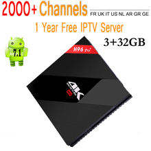 H96 Pro Plus + Octa Core Android 7.1 TV Box iptv Amlogic S912 3G/32G WIFI BT4.0 Gigabit LAN 4 K DLNA Google Play Caja Superior Determinada del IPTV
