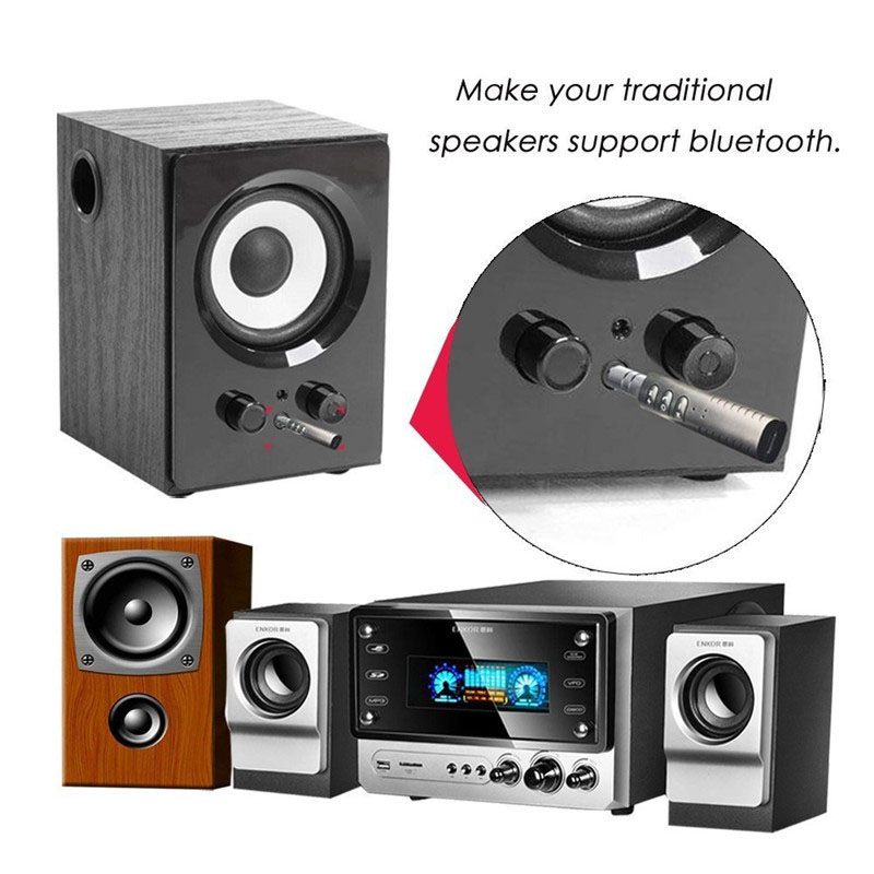 Universal 3.5mm jack Bluetooth Car Kit Hands free Music Audio Receiver Adapter Auto AUX Kit for Speaker Headphone Car Stereo 2