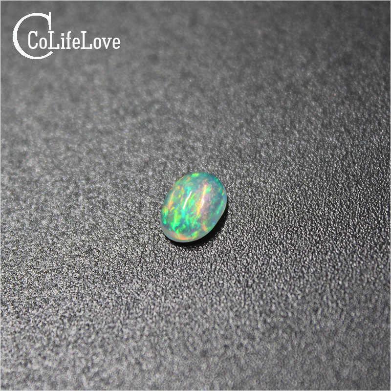 "CoLife תכשיטי 4mm * 6 מ""מ טבעי אופל loose חן כל מחיר אופל loose אבן עבור תכשיטי DIY"