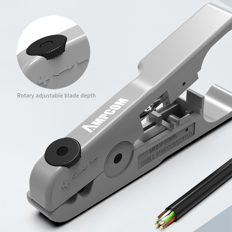 Инструмент для зачистки проводов AMPCOM, инструмент для зачистки коаксиального кабеля, круглый кабель, резак и инструмент для зачистки плоски...