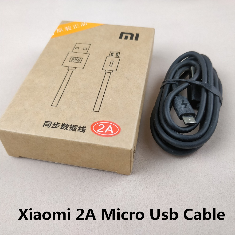 Original Xiaomi Redmi 4x Micro usb cable 2A quick Fast 100cm black Charger cable For Redmi 4X 5 5a 5plus note 3 4 4x 4a 5 5a