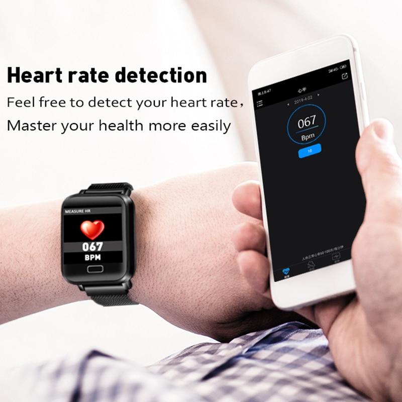 2019 LIGE New Smart Watch Men Women Heart Rate Blood Pressure Health Monitor Smart fitness tracker Bracelet Sport Smart band Box in Smart Wristbands from Consumer Electronics