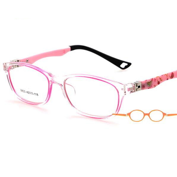 Crianças Frame Ótico Frame Crianças Óculos Meninas Oculos de sol Frame  Ótico Prescrição TR Flexível Transparente. Passe o mouse ... 6f30245df9