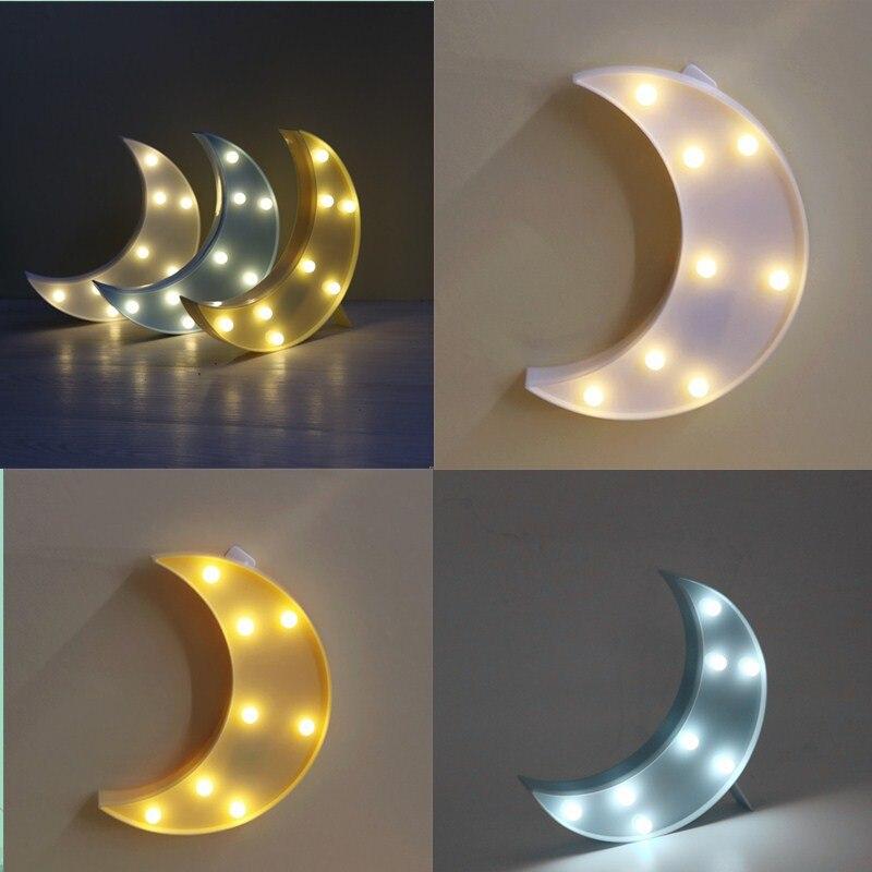 Moon Lights Bedroom: Novelty Moon Night Light Bedroom Nursery Table Lamp Mini