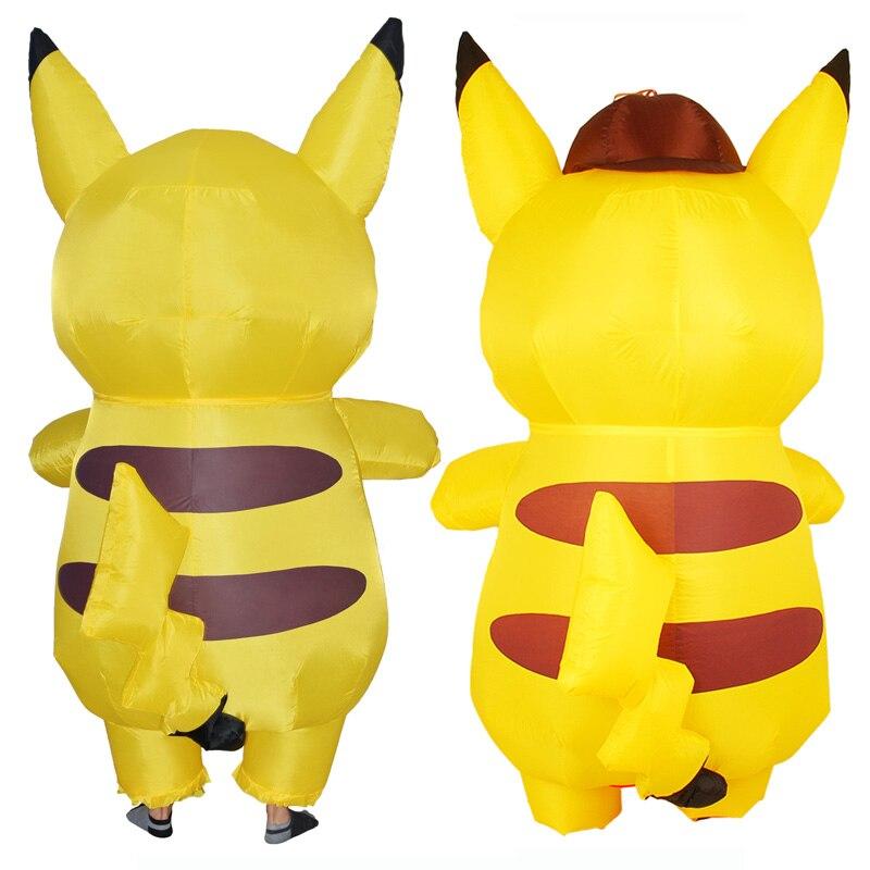 Adults Kids Inflatable Pikachu Costume Pokemon Detective Pikachu Cosplay-2 (1)