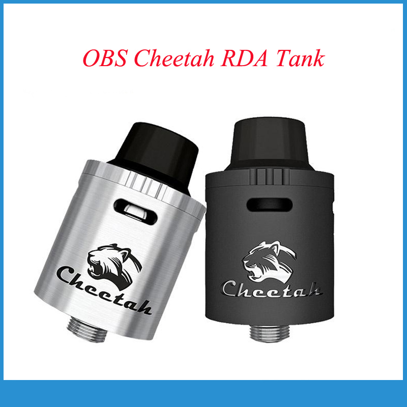 Original OBS Cheetah RDA Tank  Elektronik Sigara Rebuildable Dripping Atomizer Temp Conrol Top Airflow Control with Huge Vapor