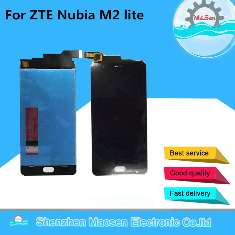 M Sen For ZTE Nubia M2 Lite LCD Screen Display Touch Panel Screen Digitizer Black Color