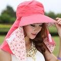 2016 новое поступление лето зонтик греться по велоспорту открытый уф лицо складной мода отдыха и путешествий вс шляпы