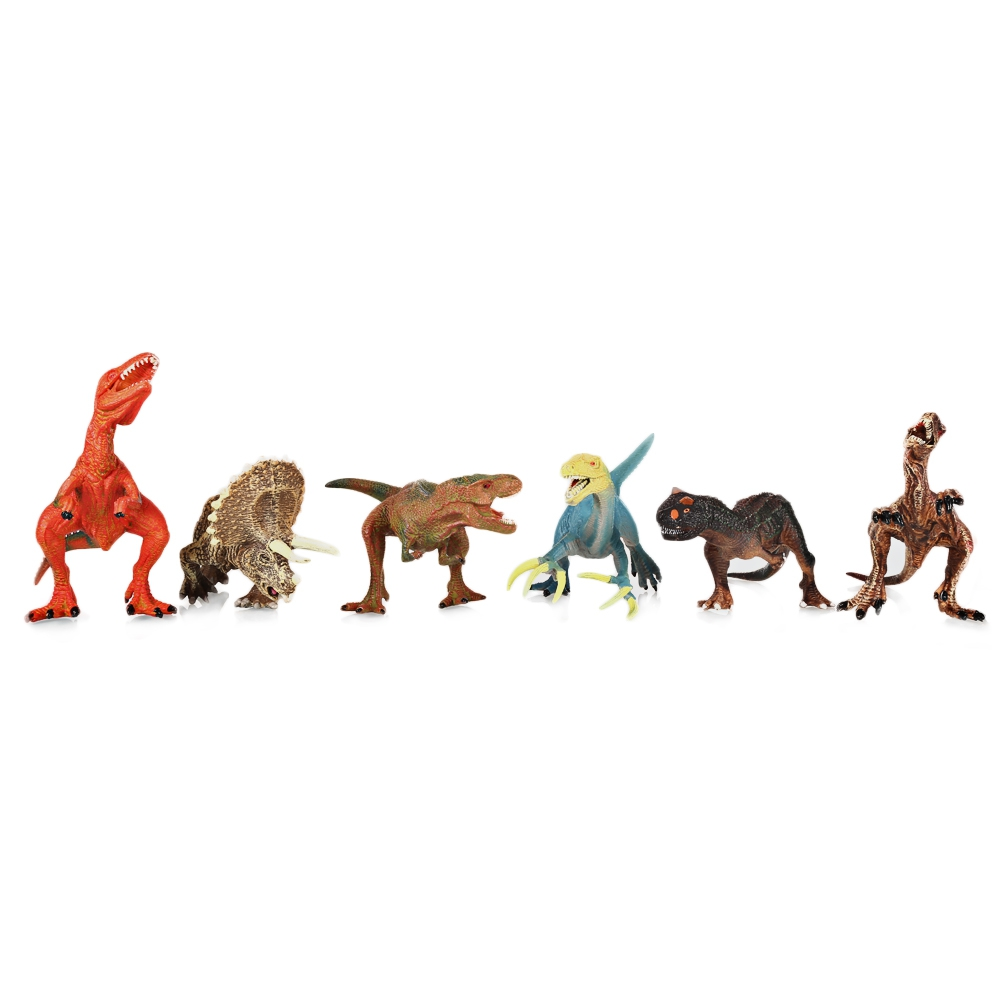 6 шт. Красочные Имитация мини динозавров модель игрушки Фигурки Животные игрушки для мальчиков детские подарки Вечерние игры украшения дом...