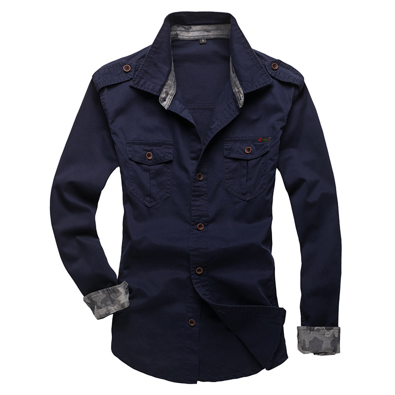 100% Cotton Military Shirt Men (13)
