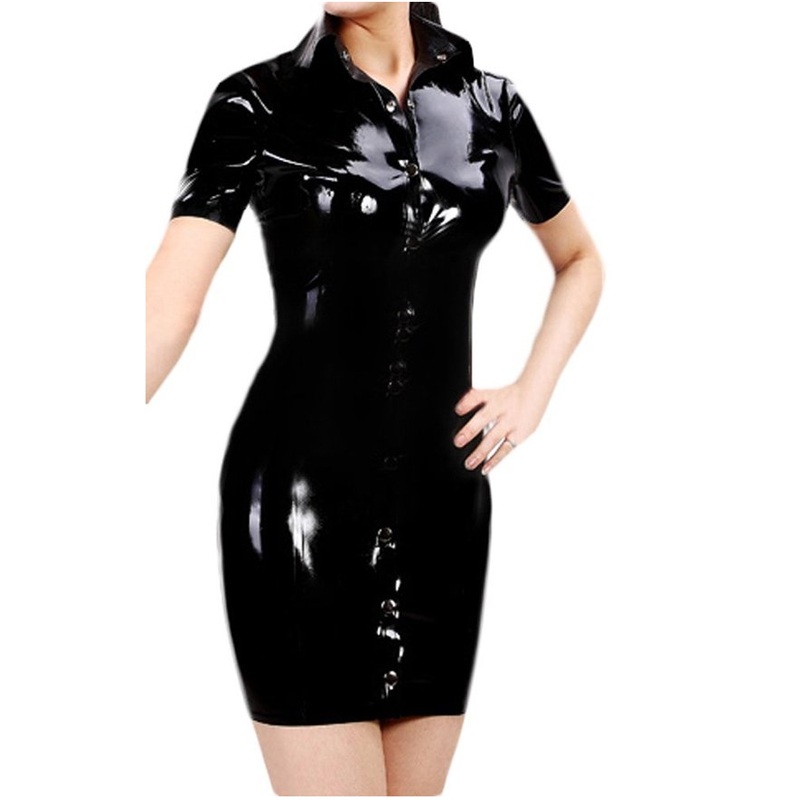 Hot Sale Women Latex Dresses Women's Clothing