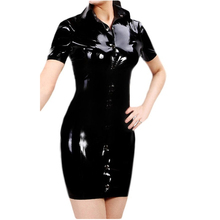 Sexy Latex Dress Women Fashion Rubber Exotic Dresses Vestidos Club Wear Plus Size Hot Sale Customize Service