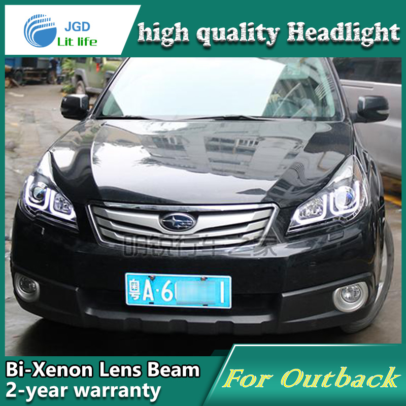 Us 590 75 15 Off Car Styling Head Lamp Case For Subaru Outback 2010 2011 2012 Headlights Led Headlight Drl Lens Double Beam Bi Xenon Hid In Car