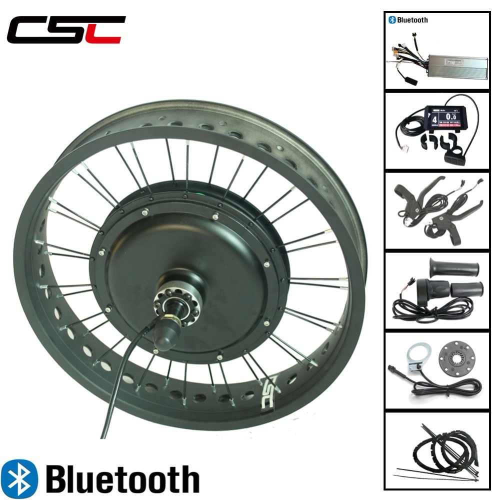 Fat eBike conversion kit Bluetooth 20 24 26 inch 4.0 Tyre 48V 500W LCD display front rear motor wheel Electric Snow bicycle
