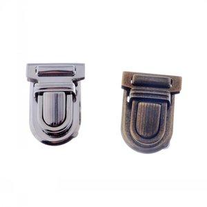 Image 1 - Kostenloser Versand 10 Sets Silber Ton Antiken Bronze Handtasche Tasche Zubehör Geldbörse Snap Verschlüsse/Verschluss Lock 22mm x 34mm