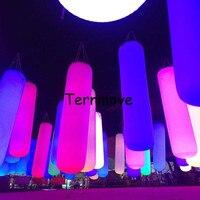 Light Fun Sensitive Touching Color Interactive Toy led strip balloon Sandbag Shape Balloon Inflatable Lighting Pillar Column
