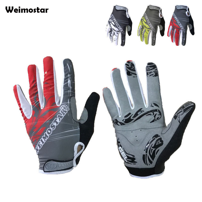 WEIMOSTAR Team Team Anti-slip GEL Ciclismo Winter Outdoor Sports Cycling Gloves Bike Bicycle Full Finger Gloves spakct bike cycling men s gloves winter full finger gloves bike bicycle guantes ciclismo racing outdoor sports black new motor
