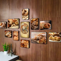 Creative Bakery Photo Wall Mural Western Cake Bakery Photo Wall Dessert Pastry Photo Frame Restaurant Combination Decoration
