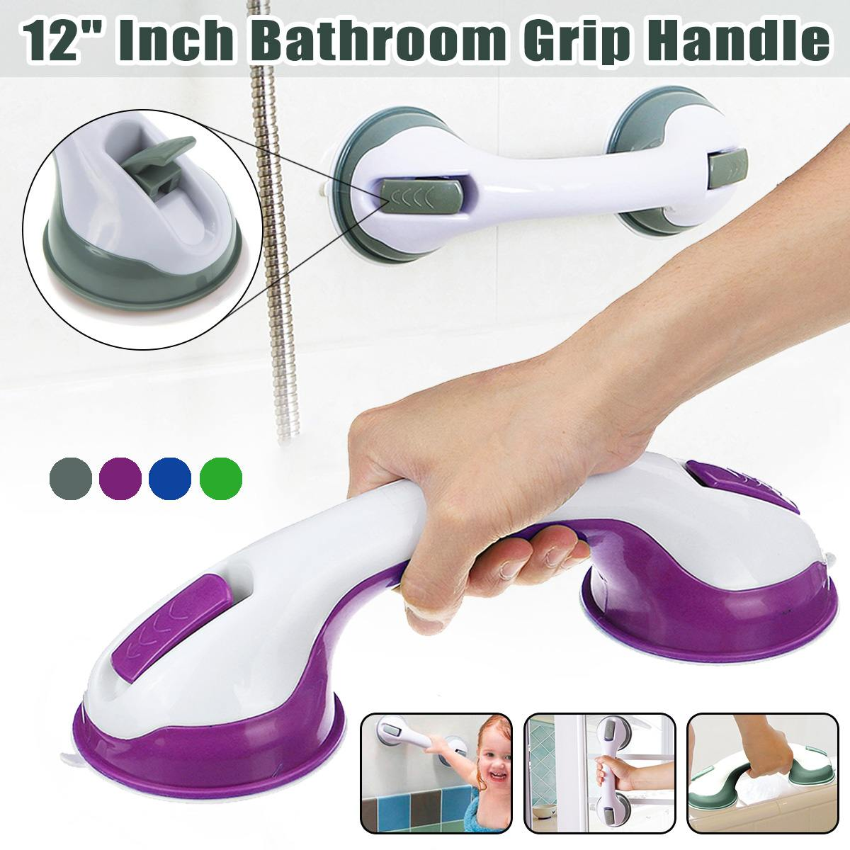 Portable Bathroom Grip Rail SPA Bath Shower Support Safety Suction Mount Handle Bar Vacuum Suction Cup Anti Slip Support