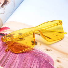 XIWANG New Style PC Conjoined Tablets Sunglasses Brilliant Ocean Film Slice Light Comfortable Retro-gooding Glasses