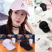 Fashion Women Men Finger Moon YOUTH Peaked HipHop Cap Adjustable Baseball Unisex Hat Black White Pink